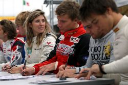 Natacha Gachnang during the F2 driver autograph session