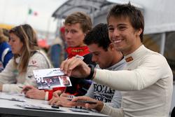 Edoardo Piscopo during the F2 driver autograph session