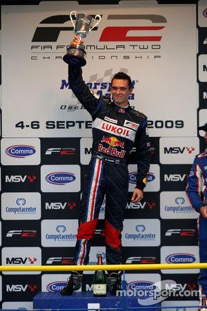 Mikhail Aleshin on the podium