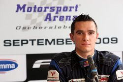 Mikhail Aleshin in the post race press conference