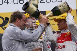 Podium: 2nd Timo Scheider, 1st Paul di Resta, 3rd Martin Tomczyk