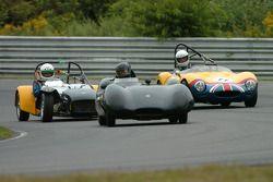 Richard Fryberger- 1958 Lotus XI #17- Lotus 7 de Paul Stinson et la #11- Ginetta de Hervey Parke