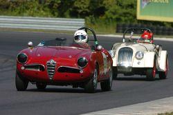 Vince Vaccaro- 1959 Alfa Romeo et la Morgan de Chip Brown