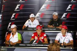 FIA press conference: Vitantonio Liuzzi, Force India F1 Team, Robert Kubica, BMW Sauber F1 Team, Gia