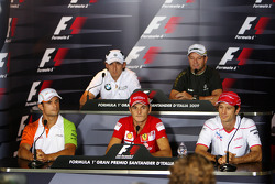 FIA press conference: Vitantonio Liuzzi, Force India F1 Team, Robert Kubica, BMW Sauber F1 Team, Gia