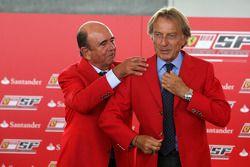 Luca di Montezemolo Ferrari President and Don Alfredo Saenz CEO Grupo Santander announce a five year