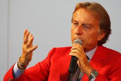 Luca di Montezemolo Ferrari President announces a five year partnership for Santander with the Ferrari team