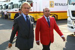 Alfredo Saenz CEO Grupo Santander with Luca di Montezemolo, Scuderia Ferrari, FIAT Chairman and President of Ferrari