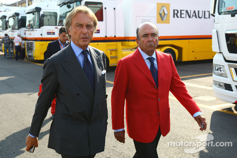 Alfredo Saenz CEO Grupo Santander ve Luca di Montezemolo, Scuderia Ferrari, FIAT Yönetim Kurulu Başk