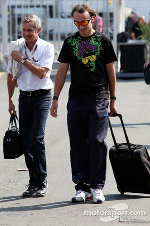 Robert Kubica, BMW Sauber F1 Team and his manager, Daniele Morelli