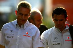 Martin Whitmarsh, McLaren, et Pedro de la Rosa McLaren Mercedes