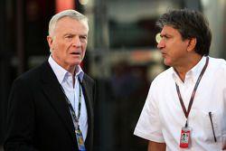 Max Mosley, FIA President, Pasquale Lattuneddu, FOM, Formula One Management