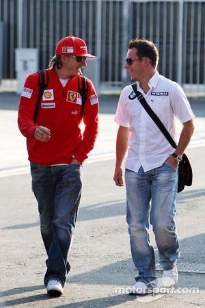 Kimi Raikkonen, Scuderia Ferrari, Christian Klien, Test Driver, BMW Sauber F1 Team