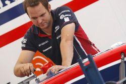 A iSport International mechanic at work