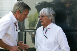 Bernie Ecclestone and Daniel Morelli, manager of Robert Kubica, BMW Sauber F1 Team