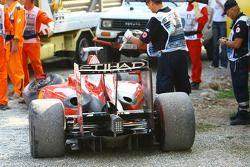 Giancarlo Fisichella, Scuderia Ferrari, crashes