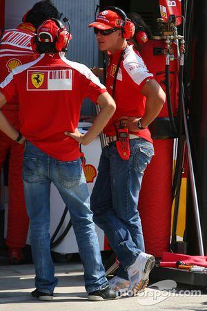 Лука Бадоер, Scuderia Ferrari и Михаэль Шумахер, Scuderia Ferrari
