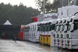 Autodromo di Monza hits by thunder storm