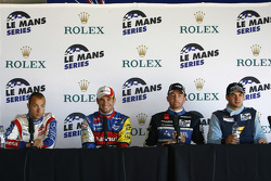 LMP1 and overall pole winner Nicolas Lapierre, LMGT1 pole winner Laurent Groppi, LMP2 pole winner Olivier Pla, LMGT2 pole winner Richard Lietz