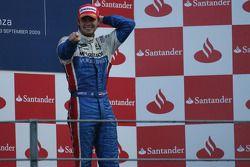 Podium: race winner Giedo Van der Garde celebrates