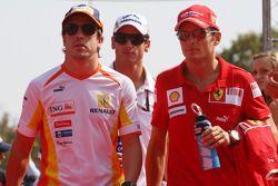 Fernando Alonso, Renault F1 Team, Giancarlo Fisichella, Scuderia Ferrari