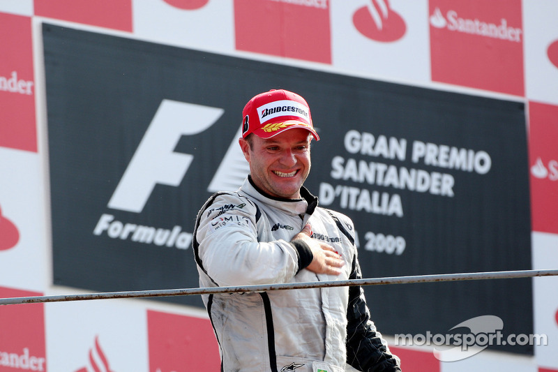 Podio: el ganador Rubens Barrichello, Brawn GP