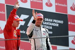 Podium: second place Jenson Button, BrawnGP, third place Kimi Raikkonen, Scuderia Ferrari