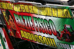 Fan banner for Giancarlo Fisichella, Scuderia Ferrari