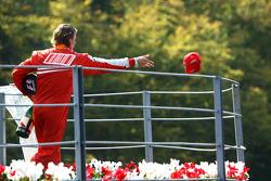 Podium: third place Kimi Raikkonen, Scuderia Ferrari