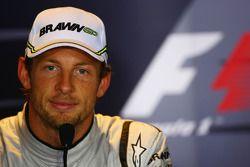 FIA press conference: second place Jenson Button, BrawnGP