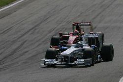 Nick Heidfeld, BMW Sauber F1 Team and Giancarlo Fisichella, Scuderia Ferrari