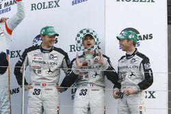 LMP2 podium: class winners Jonny Kane, Benjamin Leuenberger and Xavier Pompidou