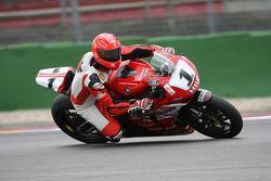Michael Schumacher testet ein Superbike