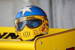 Le fameux casque du triple vainqueur de l'Indy 500: Johnny Rutherford