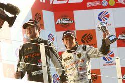 GT300 podium: third place Koji Yamanishi and Atsushi Yogo