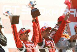 GT500 podium: class second place Satoshi Motoyama and Benoit Treluyer