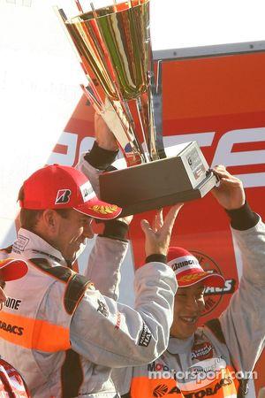 GT500 podium: class winners Ralph Firman and Takuya Izawa