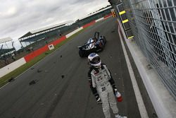 Xavier Pompidou after his crash on the last lap
