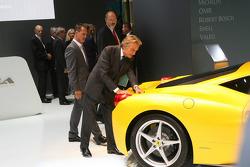 Luca di Montezemolo, Scuderia Ferrari, FIAT Chairman and President of Ferrari with Michael Schumacher, Test Driver, Scuderia Ferrari