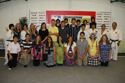Speedway students and their host families