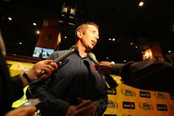 NASCAR Sprint Cup Series driver Greg Biffle talks to the media on the red carpet Thursday at the Hard Rock Cafe