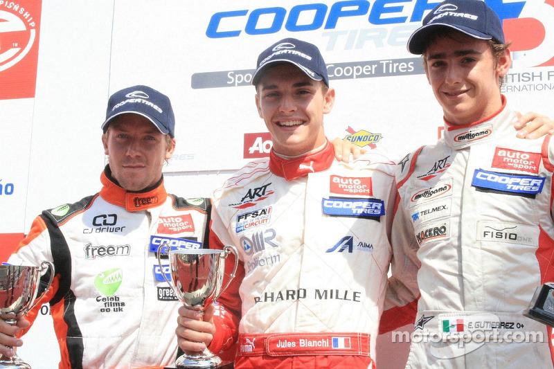 2009 Sam Bird, Jules Bianchi y Esteban Gutiérrez Fórmula 3 Británica
