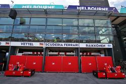 Ferrari pit garages