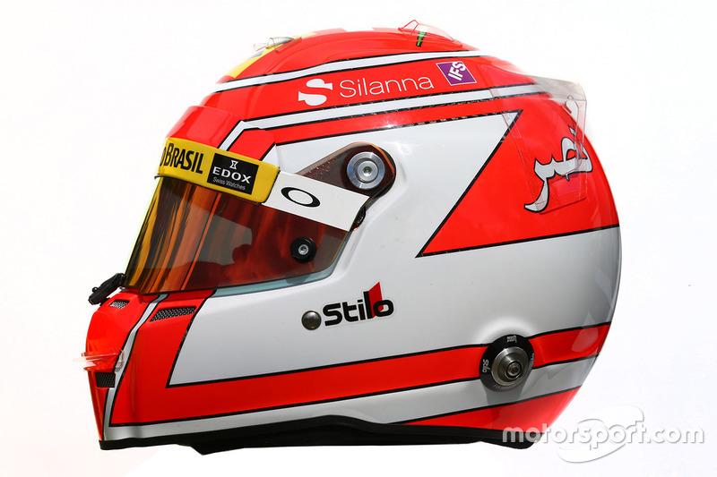 El casco de Felipe Nasr, Sauber