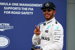 Polesitter Lewis Hamilton, Mercedes AMG F1 Team celebrates his pole position in parc ferme