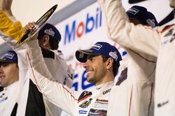 GTLM Podium: 3. Michael Christensen, Earl Bamber, Frédéric Makowiecki, Porsche Team