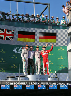 Podium: 1. Nico Rosberg, Mercedes AMG F1 Team; 2.  Lewis Hamilton, Mercedes AMG F1 Team; 3. Sebastian Vettel, Ferrari