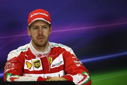 Sebastian Vettel, Ferrari in der Pressekonferenz