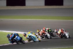Andrea Migno, SKY Racing Team VR46, KTM; Gabriel Rodrigo, RBA Racing Team, KTM; Khairul Idham Pawi, Honda Team Asia, Honda; Hiroki Ono, Honda Team Asia, Honda
