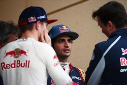 Max Verstappen, Scuderia Toro Rosso with Carlos Sainz Jr., Scuderia Toro Rosso and James Key, Scuderia Toro Rosso Director Técnico
